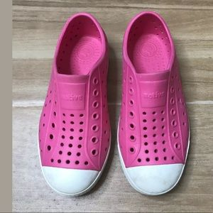 Native Toddler Jefferson Shoes - Pink / White C12